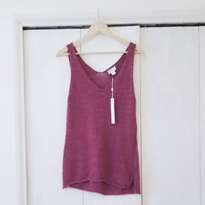 CASLON Knit Pink Sweater Tank Top